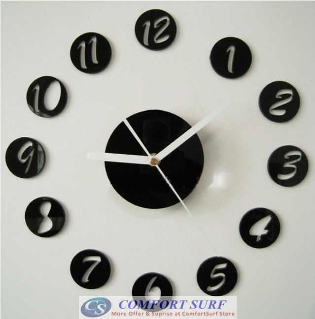 DIY Wall Acrylic Clock - Number Design