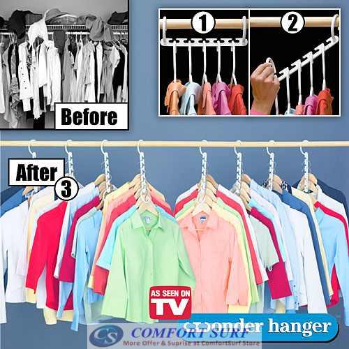 Wonder Hanger Triples Closet Space