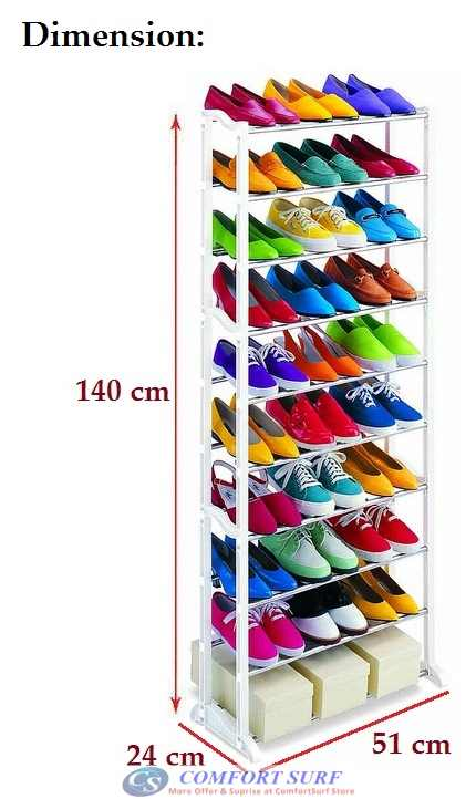 Amazing 10 Level Shoe Rack - Can Store 30 Pairs Shoes!!
