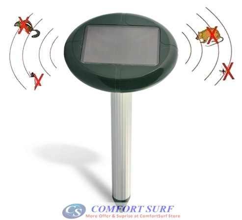 Ultrasonic Waves Solar Power Mouse Gopher Rodent Pest Repeller