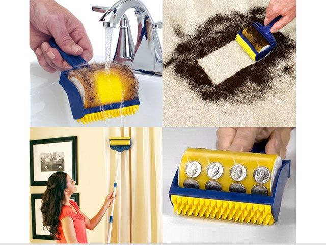 ASoTV Stick Pro Reusable Washable Sticky 3pcs Set Lint Roller Cleaning Brushes