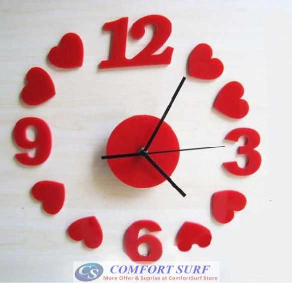 Interior Decoration Frameless DIY Wall Acrylic Clock