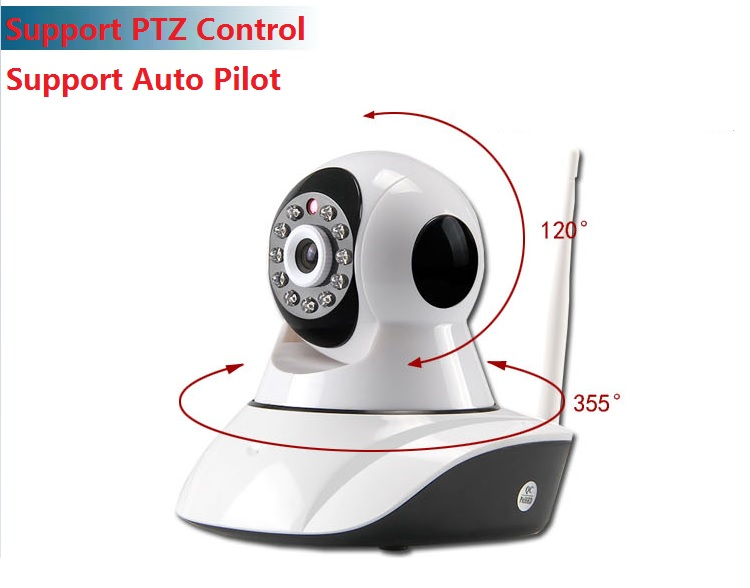 SecurEyes 1280*720P HD 1.3Mpixel 2 in 1 P2P Wireless IP Camera + Support NVR With PTZ + IR Night Vision/MicroSD via Smartphone + Support Motion Alarm Message