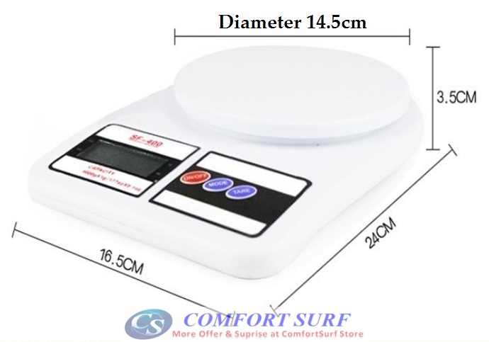 High Precision Electronic Digital Kitchen Weight Scale (5Kg x 1g & 7kg x 1g)