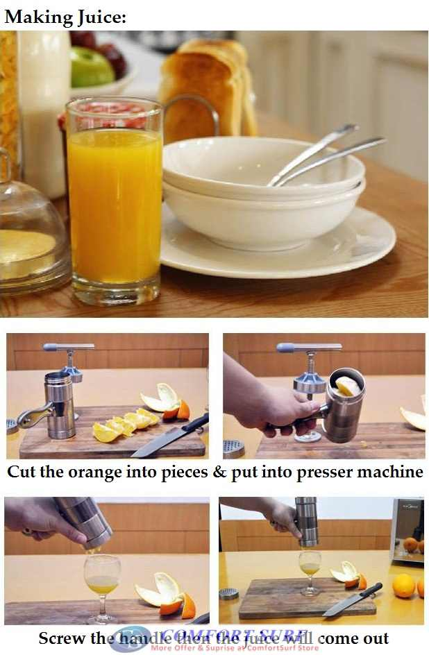 Stainless Steel Manual Noodle Press / Extract Juice Pressure Surface Machine