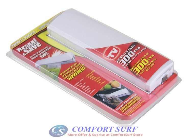 Reseal & Save Household Kitchen Plastic Bag Sealer