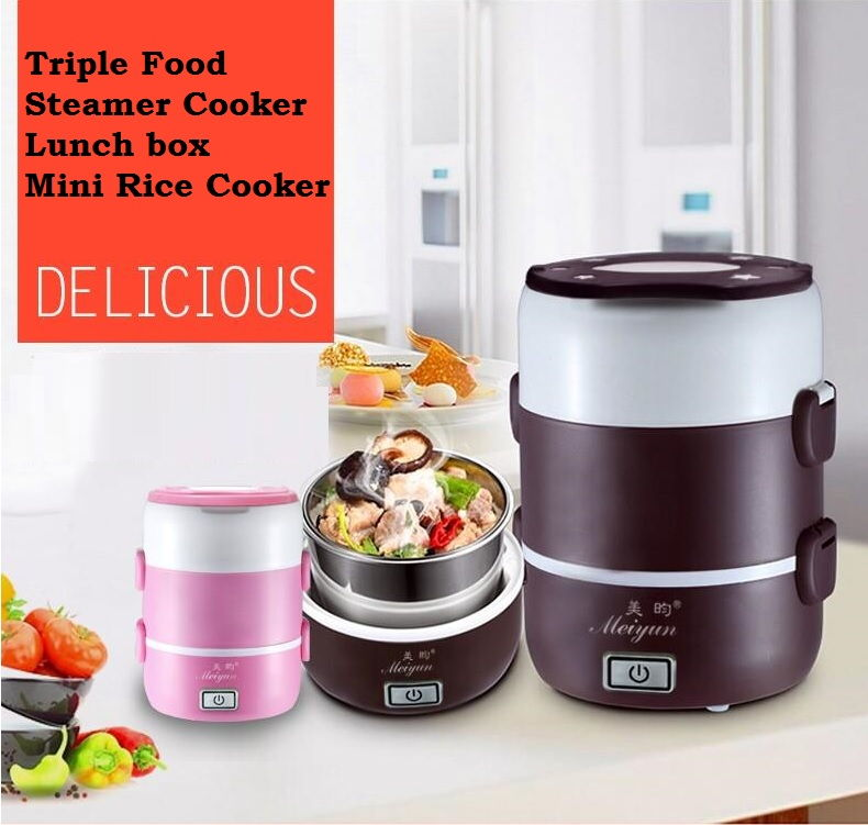 Multifunctional Triple Food Steamer Electronic Rice Cooker Luch Box