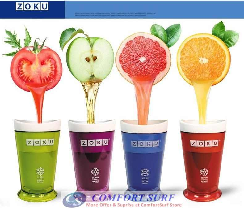 Zuko Coloful Summer Instant Freeze Slush & Shake Smoothies Ice-Cream Milkshake Maker