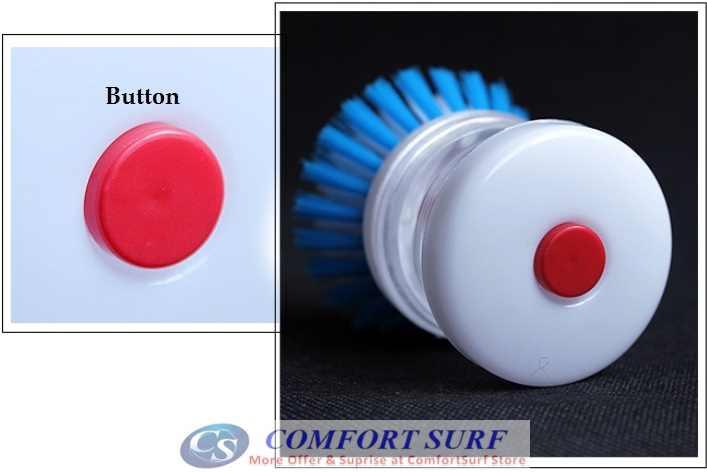 Creative & Convenient Liquid Presser Dishwashing Kitcheb Home Cleaning Brush