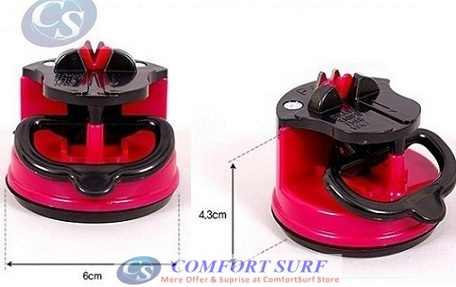Knife Sharpener with Suction Pad base with Tungsten Steel Grinders