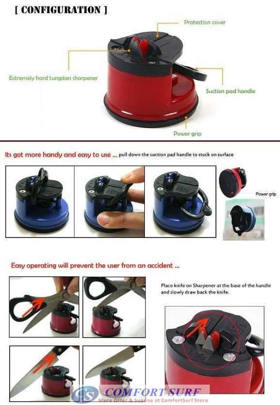 Asah Pisau Praktis Untuk lucky knife sharpener with suction pad asah pisau