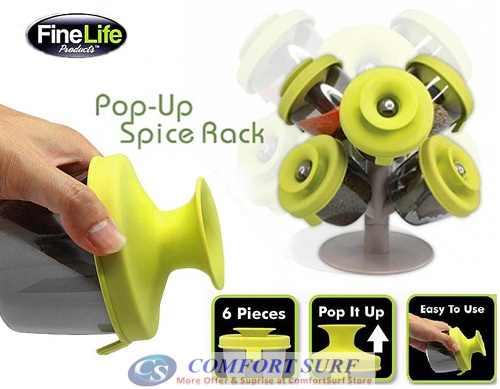 Pop-Up Spice Rack