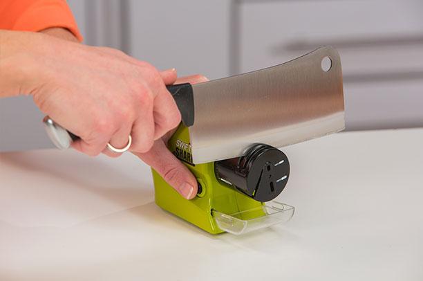Swifty Sharp Sharpener for Knife Knives Scissors Motorized Cordless Blade