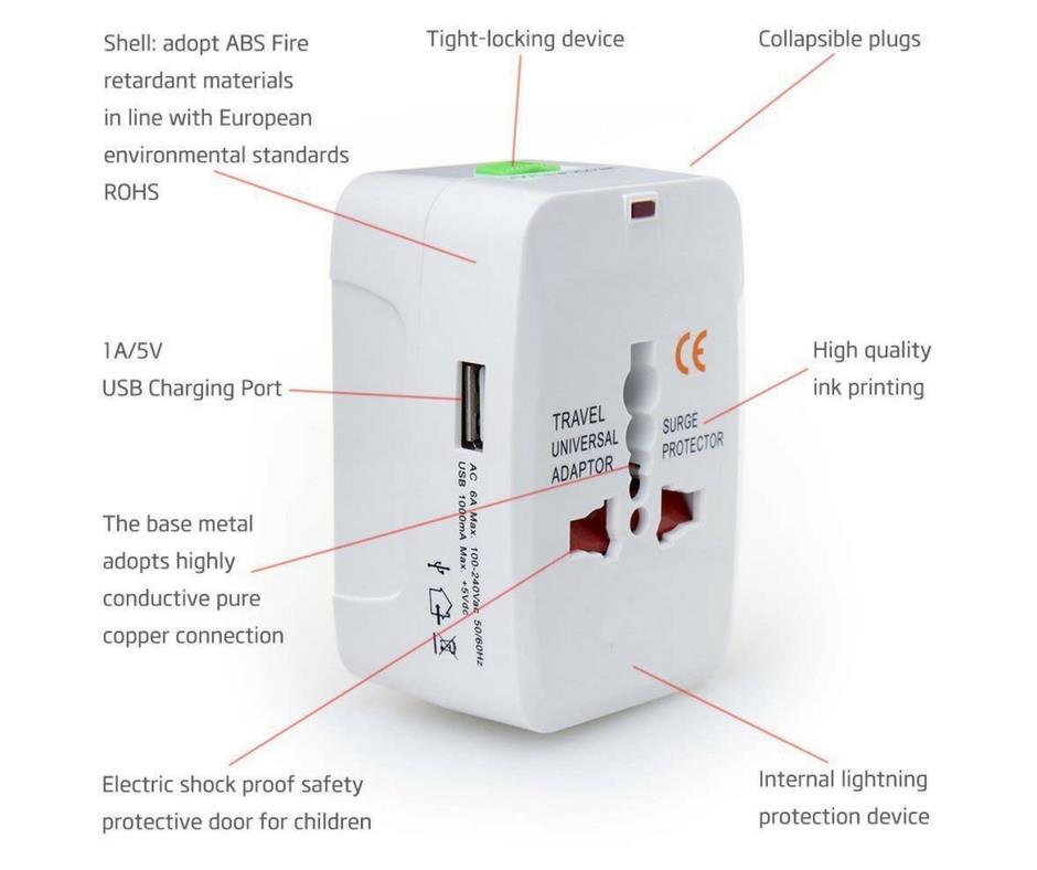 travel adapter travel pouch