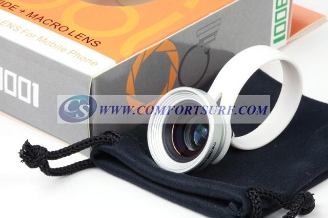 Detachable Clip Wide & Macro Lens for Mobile Phone