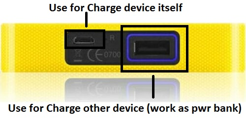 alcatel y854 charge option