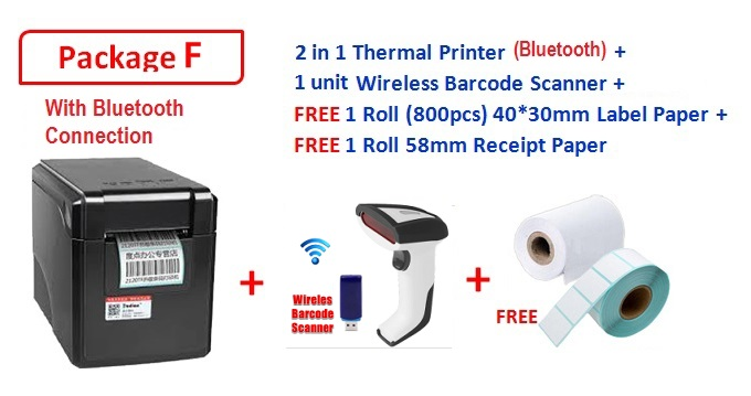 2 in 1 New GPrinter GP-2120TF Quality Barcode Label Thermal Printer & Receipt Tag Printer