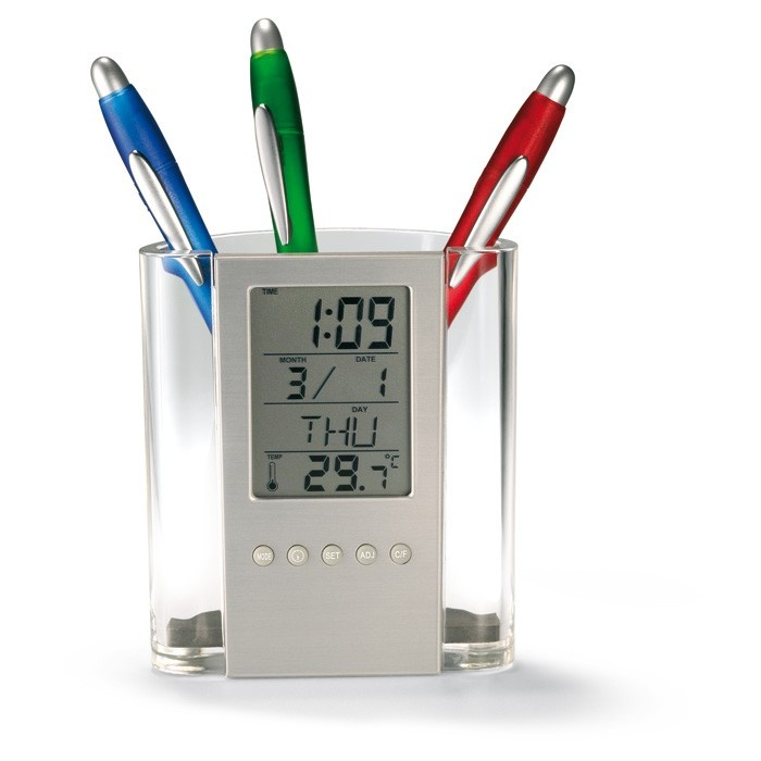 Pen Holder Calender transparent LCD