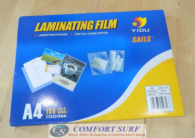 Thickness 55 Micron High Quality Laminating Pouches Film