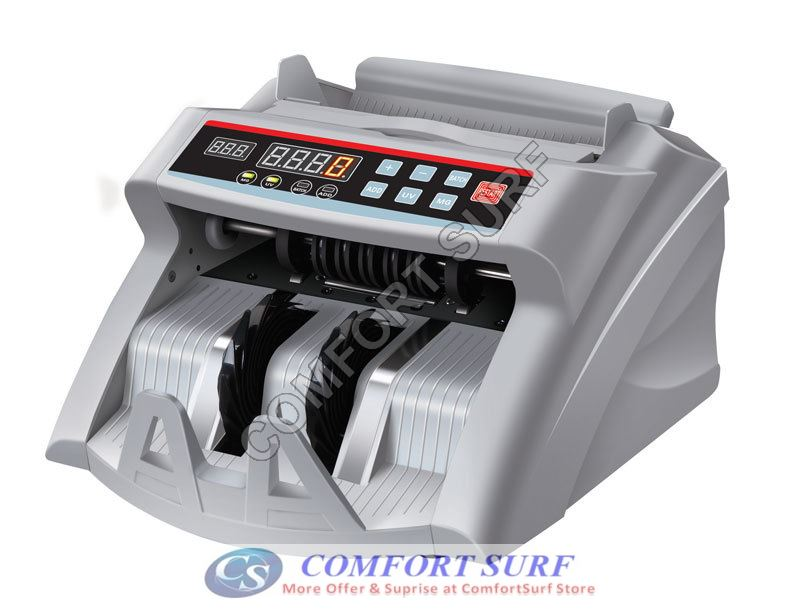 Latest Money Bill Cash Notes Counter Machine Bank With UV (Ultraviolet) + MG (Magnetic) While Counting - Malaysia 3pin Plug