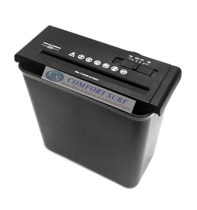Ceboer Mini Office 6.8mm Paper Shredder Confidential Cutter Strip Cut With 10L Basket
