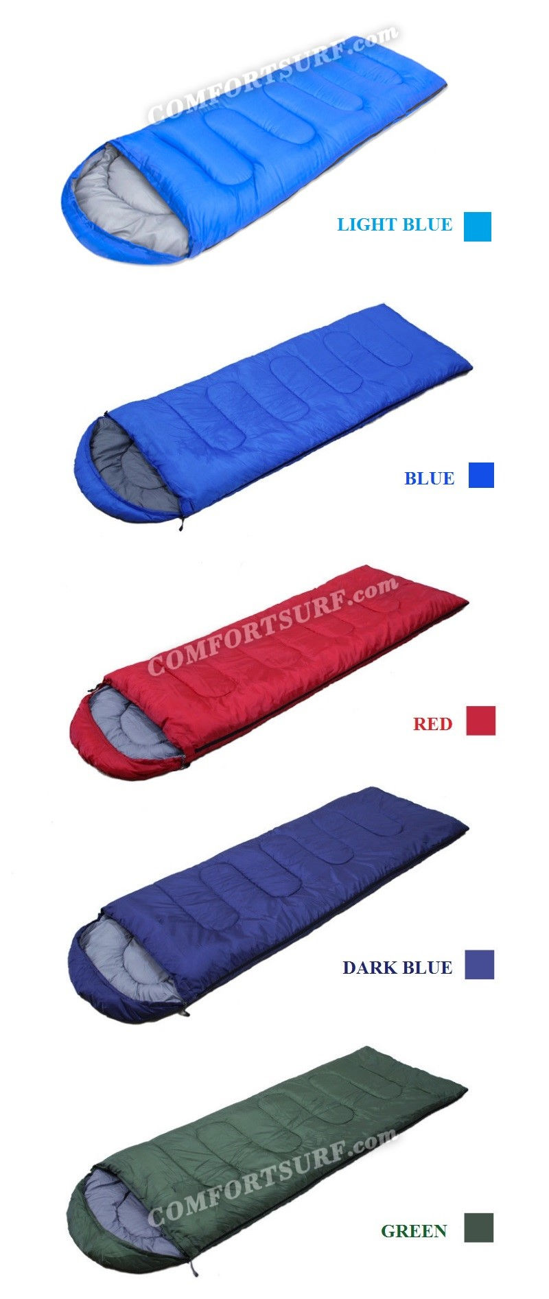 Portable and Sleeping Bag for Outdoor Travel Camping and Hiking