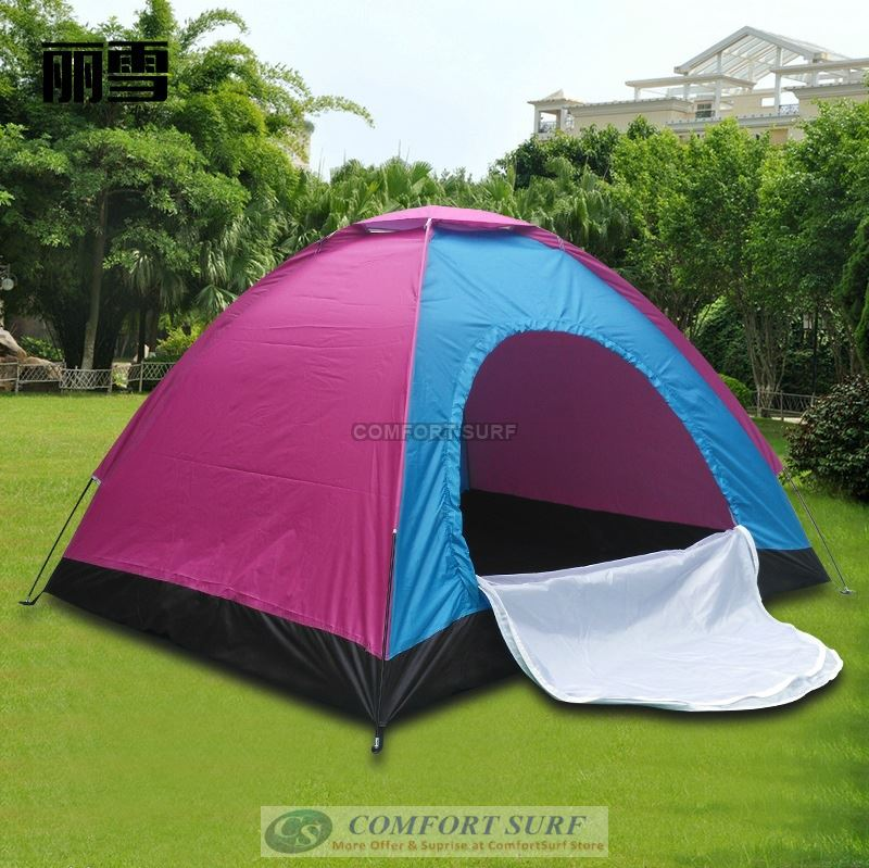 New Outdoor single Layer Single Door Waterproof Camping Tent 2 Persons + Free Carry Bag