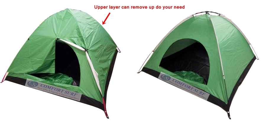 New Outdoor Double Layer Double Door Waterproof Camping Tent 3/4 Persons + Free Carry Bag