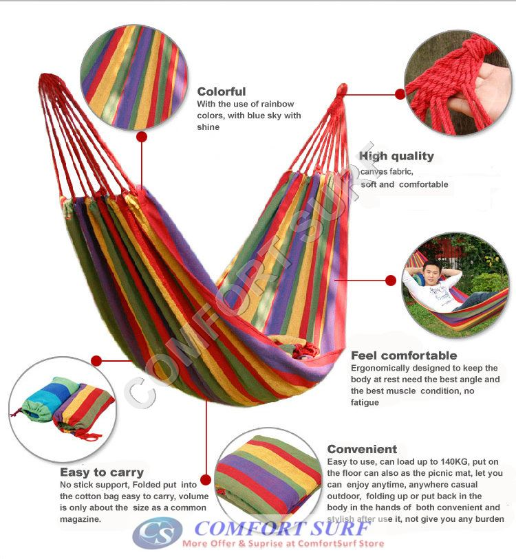 Portable Travel Sleeping Hammock for Outdoor Camping Picnic