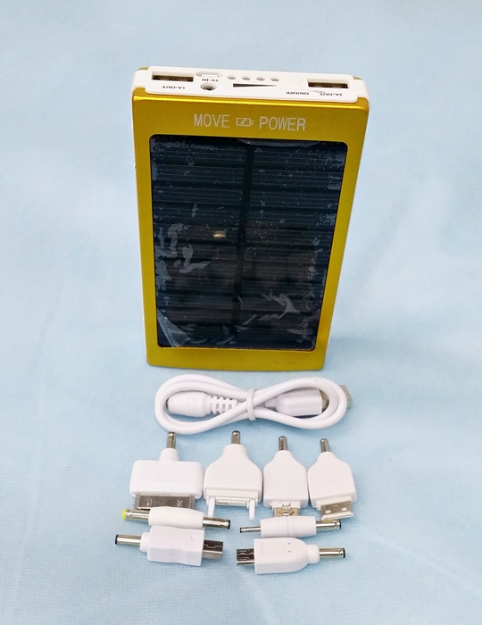 Move Power 100000mAH Portable Solar Mobile Power Bank