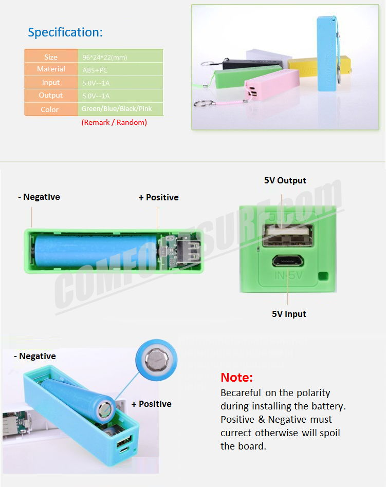Stick Power Bank 26000mAH