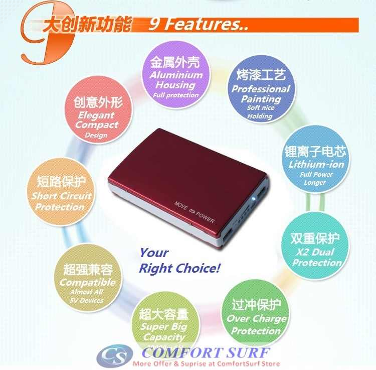 YOOBAO Power Bank 11200mAh PORTABLE CHARGER BATTERY Power Bank