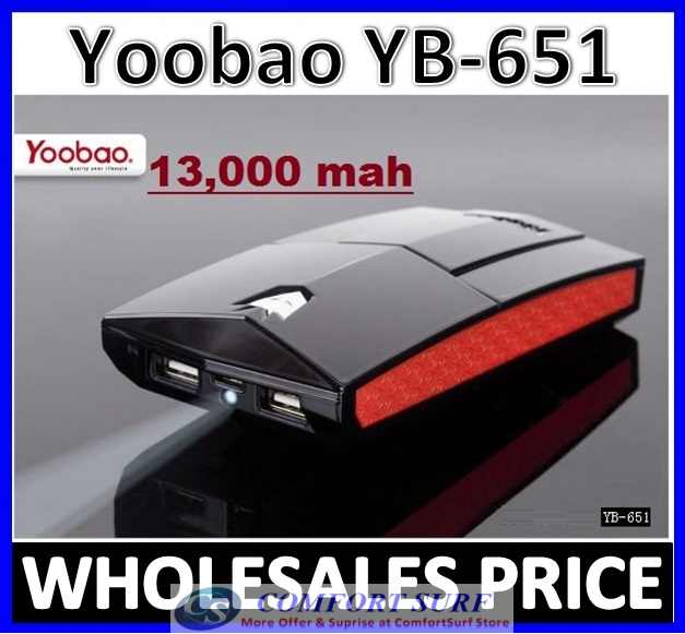 YOOBAO YB-651Power Bank 1300mAh PORTABLE CHARGER BATTERY Power Bank
