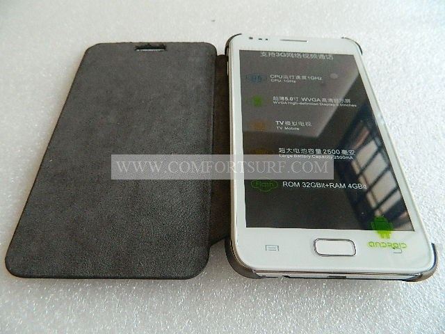 MTK6575 Star N8000 hard Leather Flip Casing