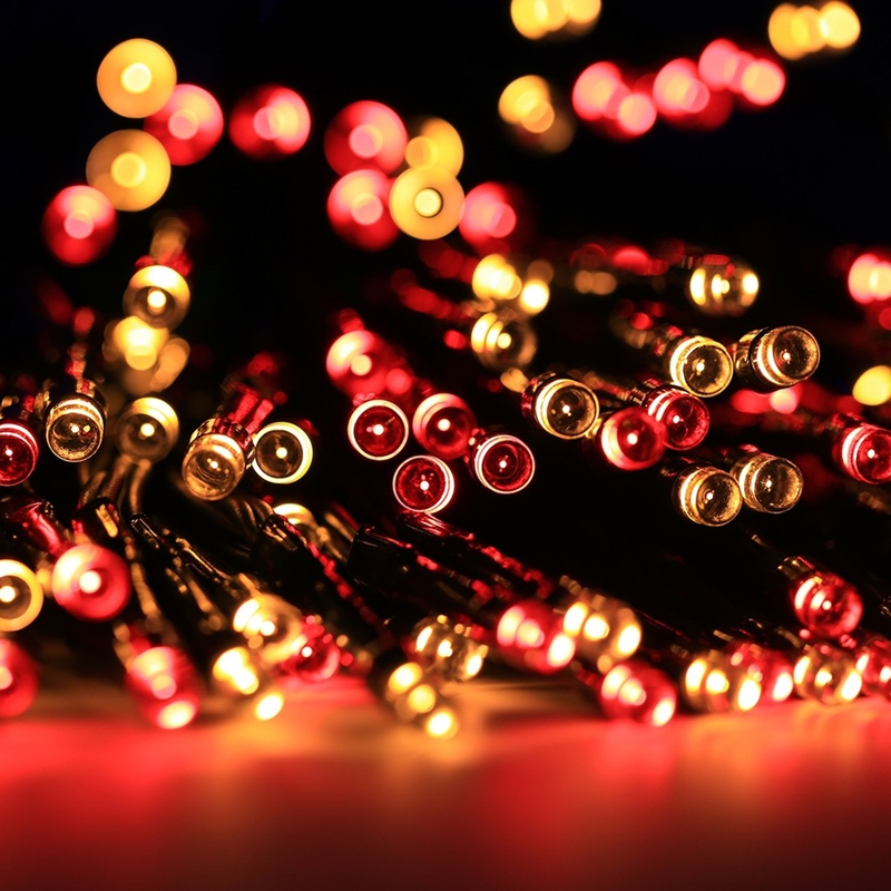 MaxSolar SL012 Solar Powered LED String Light Long 22 Meter 200x LEDs Hari Raya / Christmas Festival String Light Wedding Party Xmas Garden Fairy Lights