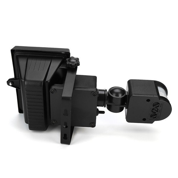 Solar Power Super Bright 100 LEDs PIR Security Motion Sensor Light With 3 Modes Adjustable (SENS/TIME/LUX) + 3 Status (Always ON / OFF / Sensor Mode)