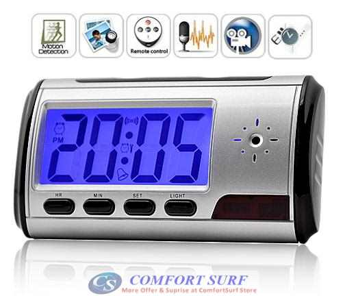 Multi-function Wireless Digital Spy Table Alarm Clock