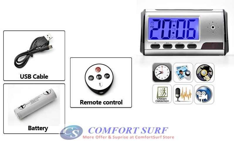 Multi-function Wireless Digital Spy Table Alarm Clock