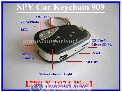 5 In 1 New High Deifinition Spy Car Key Chain V2 Hidden Camera Mini DV Camc
