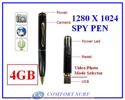 4GB 5 In 1 New High Deifinition Spy Pen Video Hidden Camera Mini DV Caomcorder