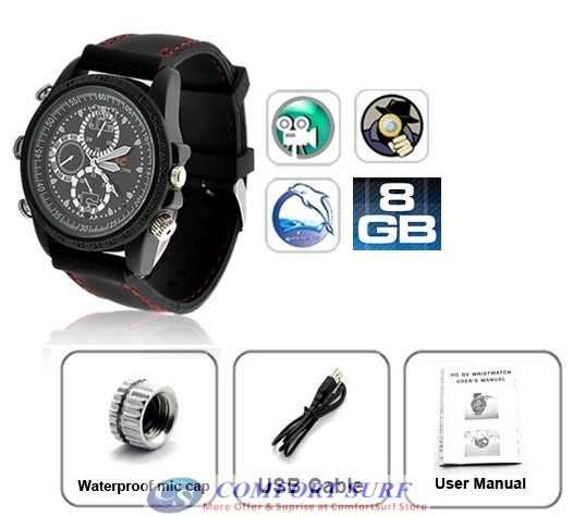 Spy Watch 8GB High Definition SPY Video Hidden Camera Watch