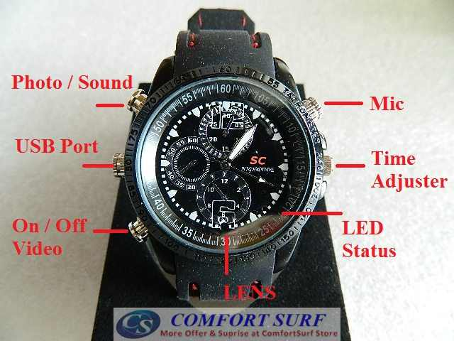 Spy Watch 8GB High Definition SPY Video Hidden Camera Watch