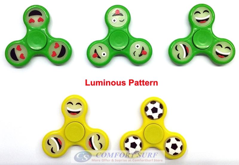 New Colorful or Luminous Spinner Fidget Toy Funny Design EDC Ceramic Games Hand