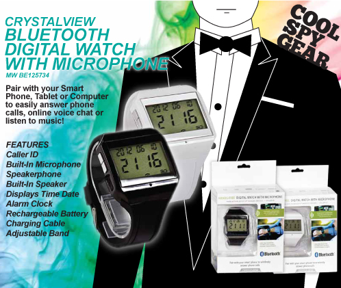 Bluetooth Digital Watch With Built-in Mic
