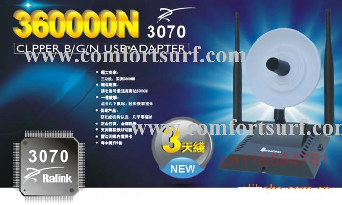 Diamond 360000N 1500mW High-Power Clipper 802.11b/g/n  150Mbps USB WiFi Adapter