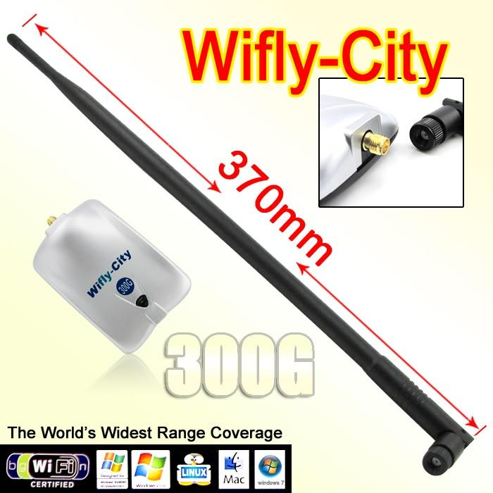 Wifly-City 300G 9dBi 1200mW 802.11b/g 54Mbps USB Wireless Adapter