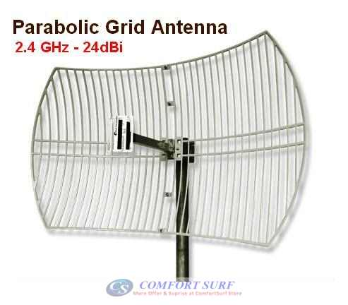 24dBi Parabolic Grid Antenna 2.4Ghz Wireless Wifi Antenna