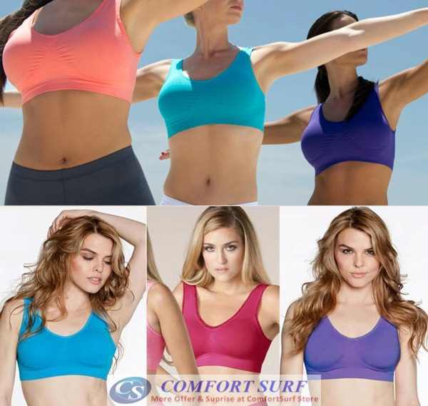 Seamless Genie Bra Double Layers with Removable Pads