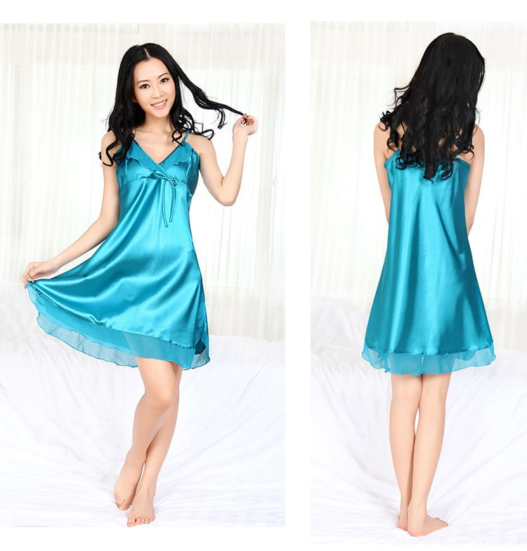Night Dress Sexy Lace Butterfly Silk Sleep Wear Underwear Pyjamas nightwear