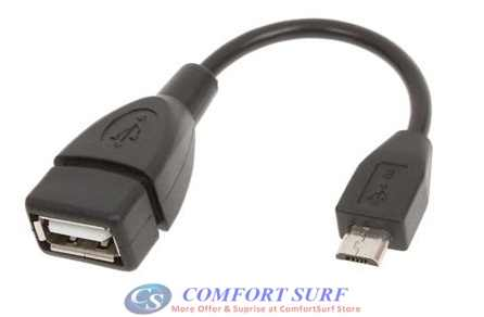 Micro USB to USB Female Host OTG Cable